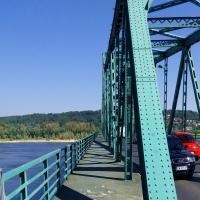 Włocławek. Most na Wiśle z nowym chodnikiem