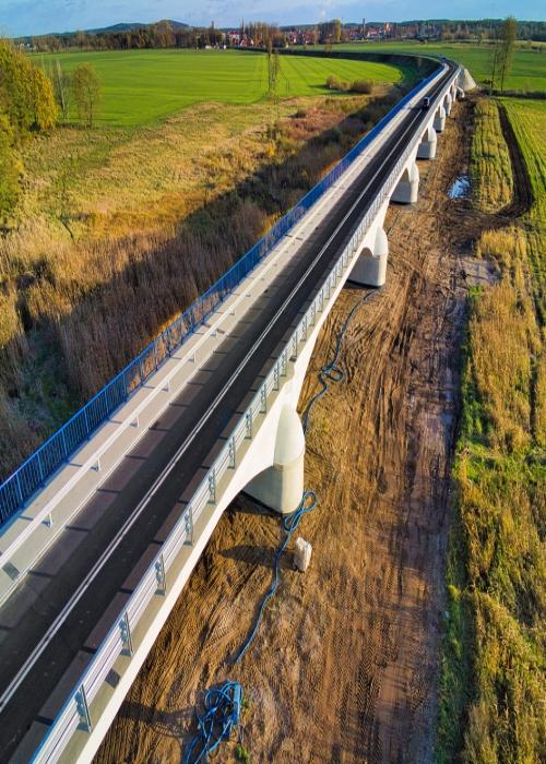 Skwierzyna. Most nad terenem zalewowym rzeki Warty